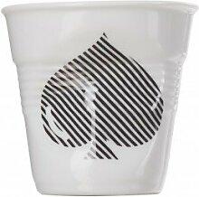 Becher Knittereffekt Cappuccino 18cl Revol Pique