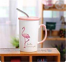 Becher Koreanische Version Des Flamingos Stehend