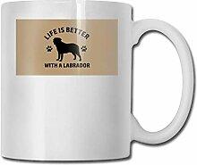 Becher Leben ist besser mit einem Labrador Cups