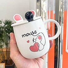 Becher Maus Liebe Keramik Tasse Mit Deckel Löffel