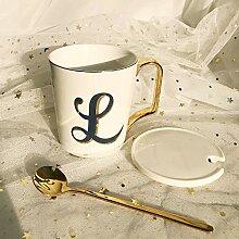 Becher Mit Deckel Löffel Keramik Kaffeetasse