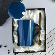 Becher Mit Deckel Löffel Tasse Keramik Kaffee