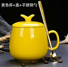 Becher Mit Deckel Löffel Tasse Keramik Wasser