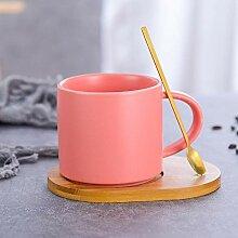 Becher Nordic minimalist Keramik Tasse Holzgriff