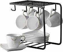 Becher Porzellan Espressotassen mit Untertassen
