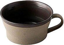 Becher Porzellan Große Kaffeetasse mit Griff 15.2