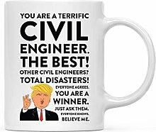 Becher Präsident Trump Bauingenieur Schöne