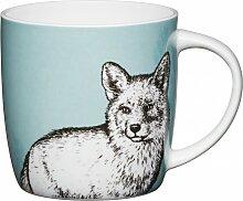 Becher, Tasse COTTAGE Fuchs für 425ml weiß bunt