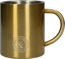 Becher, Tasse EARLSTREE für 300ml gold Edelstahl