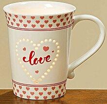 Becher Tasse Love H11cm, 330ml Material: Porzellan