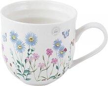 Becher, Tasse MEADOW BUGS H. 10cm weiß gemustert Keramik Creative Tops (11,50 EUR / Stück)
