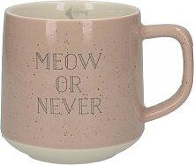Becher, Tasse Meow Or Never 300ml rosa creme Keramik Creative Tops (13,95 EUR / Stück)
