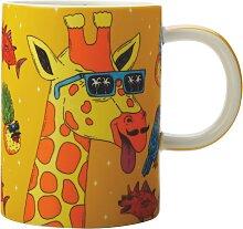 Becher Tasse Mulga the Artist Giraffe mit