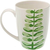 Becher Tasse NATURE Blattmotiv 300ml Weiß Grün Porzellan Versa Home