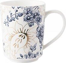 Becher, Tasse PALMER'S SILK für 400ml weiß blau gold Porzellan Creative Tops (9,95 EUR / Stück)
