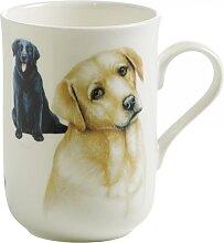 Becher, Tasse PETS DOGS Hund Labrador H. 10,5cm 340ml weiß Maxwell & Williams (10,95 EUR / Stück)