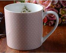 Becher Tasse PINK SPOT rosa weiß Porzellan H 9cm 330ml  Katie Alice Creative Tos (6,95 EUR / Stück)