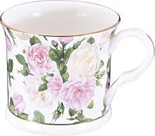 Becher, Tasse ROYAL BOUQUET Rosen weiß rosa Porzellan 295ml Creative Tops (11,95 EUR / Stück)