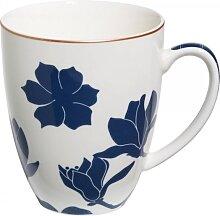 Becher, Tasse SYMPHONY H. 10,5cm für 350ml weiß blau Porzellan Maxwell & Willams (9,95 EUR / Stück)