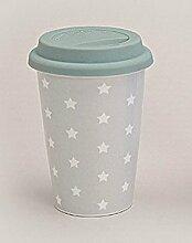Becher to go Pastell Stars Sterne rosa grau blau