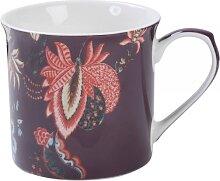 Becher TOILE ALSACE H. 9cm 230ml lila gemustert Porzellan Creative Tops (7,95 EUR / Stück)