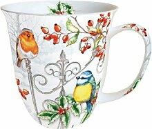 Becher Vögel Weihnachten Birds & Holly Becher 0,4