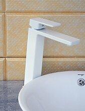 Becken Einhand Ein Loch in Korrektur Artikel Waschbecken Wasserhahn , white