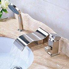 Becken Wasserhahn Badezimmer Nickel gebürstet