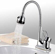 Becken Wasserhahn Bank Universalrohr Heiß Und