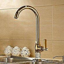 Becken Wasserhahn Gold kalt und warm Mixer