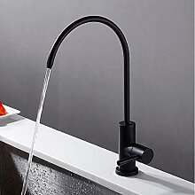 Becken Wasserhahn Küchenarmatur Schwarz Messing