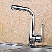 Becken Wasserhahn Zinklegierung Kaltverchromt