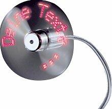Beco 1 USB-Ventilator mit Programmierung über Tastatur, mit 7 roten LEDs, 8 verschiedene Texte mit je 20 Zeichen 611.29