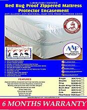 BED BUG, ALLERGIKER MATRATZENBEZUG GEGEN HAUSSTAUBMILBEN, ENCASEMENT), Synthetisch, weiß, small/double(122x190x23cm)