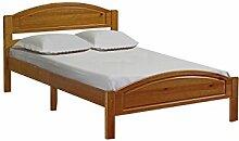 Bed In A Box, Einzelbett, Massives Kiefernholz, Design, holz, Antik, 122 cm