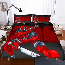 bed linings Bettwäsche-Set 3D Marvel-Held