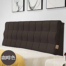 Bed soft cushioning Kissen Soft bag large backrest Kissen Double tatami bedside cover Leather cushion-K 90x60x10cm(35x24x4inch)