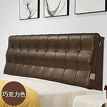 Bed soft cushioning Kissen Soft bag large backrest Kissen Double tatami bedside cover Leather cushion-F 120x60x10cm(47x24x4inch)