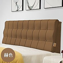 Bed soft cushioning Kissen Soft bag large backrest Kissen Double tatami bedside cover Leather cushion-P 120x60x10cm(47x24x4inch)
