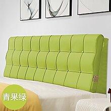 Bed soft cushioning Kissen Soft bag large backrest Kissen Double tatami bedside cover Leather cushion-J 90x60x10cm(35x24x4inch)