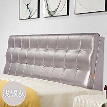 Bed soft cushioning Kissen Soft bag large backrest Kissen Double tatami bedside cover Leather cushion-I 120x60x10cm(47x24x4inch)