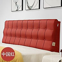 Bed soft cushioning Kissen Soft bag large backrest Kissen Double tatami bedside cover Leather cushion-N 90x60x10cm(35x24x4inch)