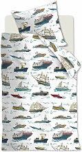 Beddinghouse Kinderbettwäsche KIDS  Ships blau