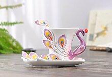 Beddingleer Tee-Tasse aus Porzellan, romantische