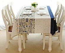 Beddingleer Tischdecke Rechteckige Baumwolle Linen