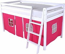 Beddybows wlx1Hochbett, Holz, pink/lila, Single