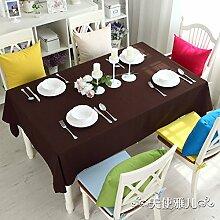 Bedeckt farbe essen kleidung feld garten kaffee tabelle baumwolle kleidung saubere farbe tisch-H 140x220cm(55x87inch)