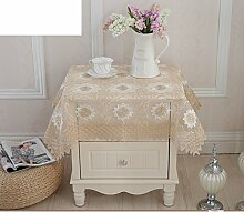 Bedeckung-tuch,European-style Tv Kühlschrank Cover Handtuch,Garten-tischtuch Mit Vielen Feldern-C 150x150cm(59x59inch)
