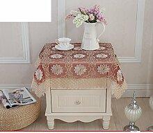 Bedeckung-tuch,European-style Tv Kühlschrank Cover Handtuch,Garten-tischtuch Mit Vielen Feldern-D 60x60cm(24x24inch)