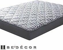Bedecor Mikrofaser Unterbetten Matratzenauflage Weich, bis ca. 40 cm Höhe, 100x200 cm, Grau